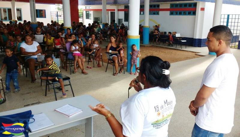 Cristino Castro: Programa Criança Feliz e Conselho Tutelar realizam palestra alusiva a 18 de maio