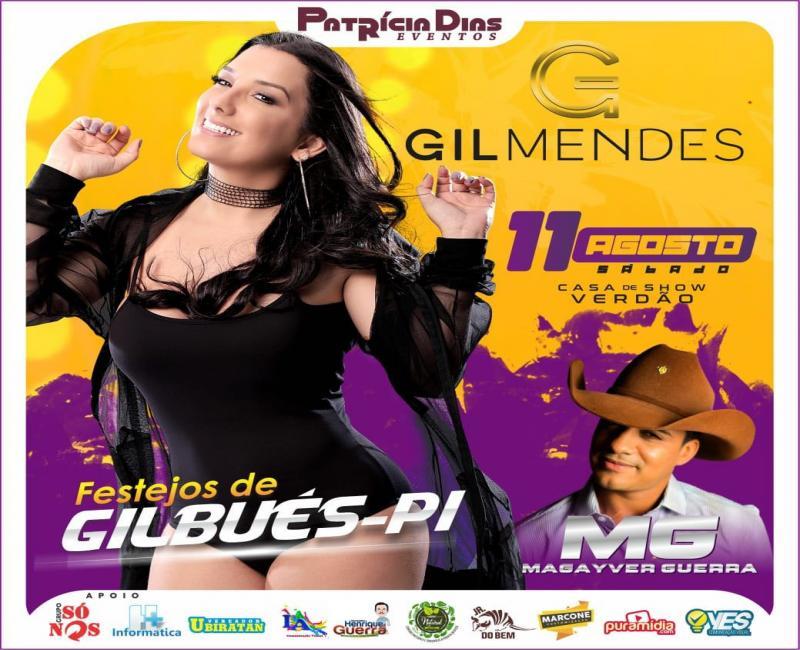 Gil Mendes em Gilbués-PI dia 11 de agosto de 2018