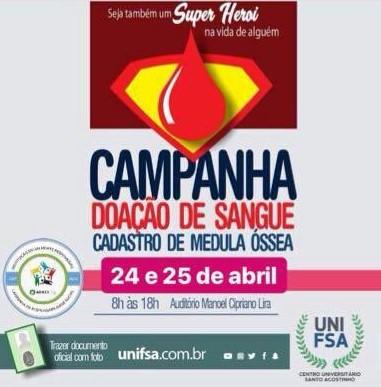 Alunos da FSA realizam campanha de doação de sangue
