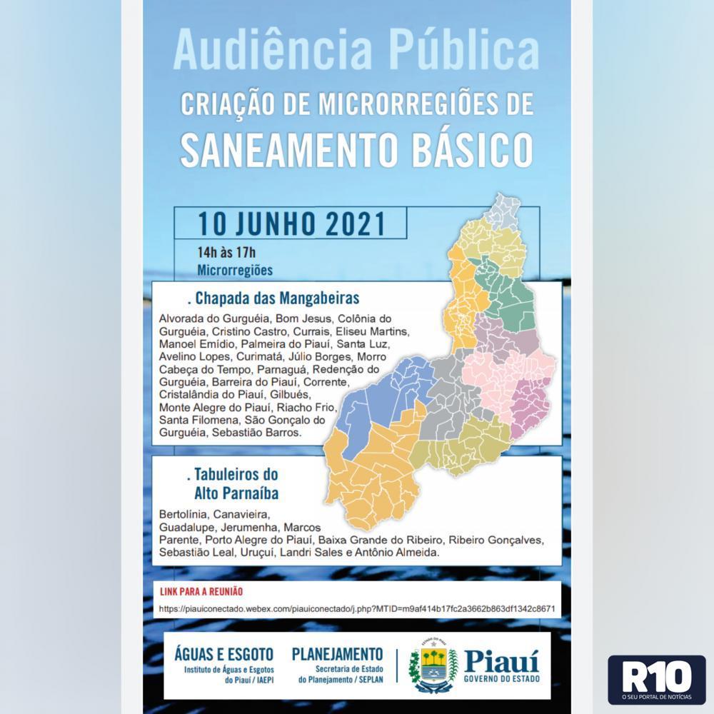 Audiência pública para a criação da microrregião de saneamento básico