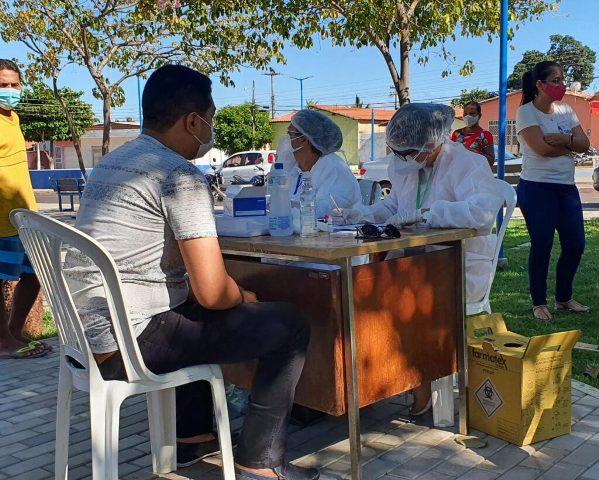 Prefeitura de Ipiranga do Piauí realiza testagem preventiva da Covid-19