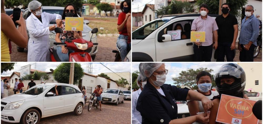 Em Ipiranga do Piauí, 125 professores são vacinados contra a Covid;