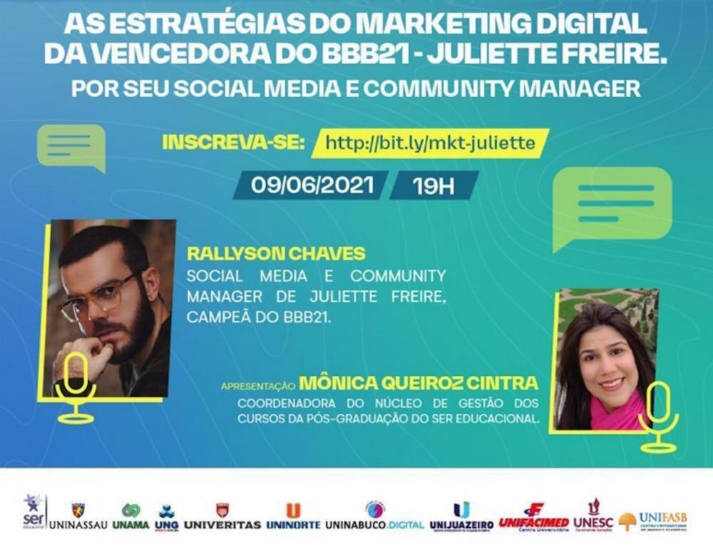 Ser Educacional promove palestra com social media de Juliette