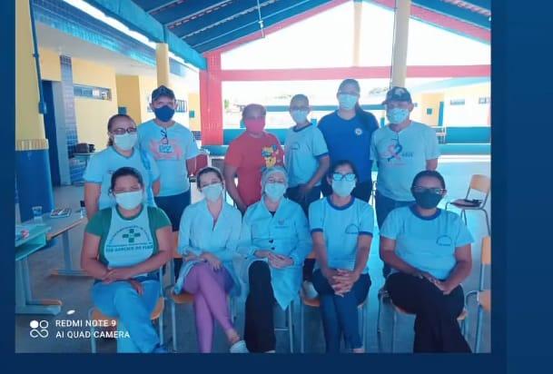foto divulgação: equipe da campanha de vacinação contra covid 19- São Gonçalo do Piauí