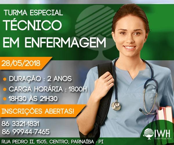 Instituto Wanda Horta abre inscrições para Turma Especial de Técnico em Enfermagem
