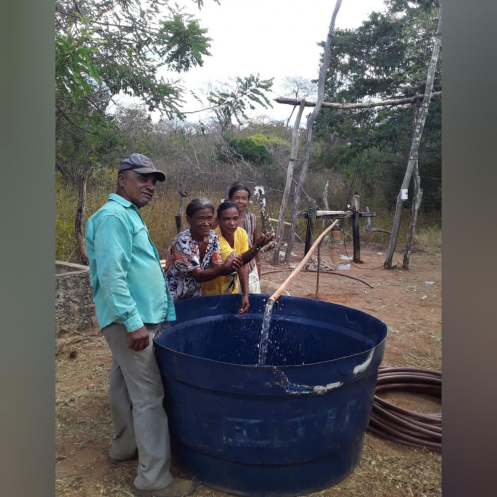 Localidade quixaba tem poço equipado após mais de 20 anos de sua abertura