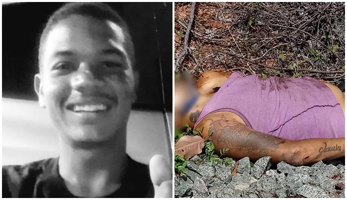Na foto preto e branco o jovem Jonas executado na Cidade Nova, a segunda foto é de um corpo ainda naõ identificado encontrado sobre a via férrea no Povoado Mundo Novo, as tatuagens devem ajudar na identificação do corpo