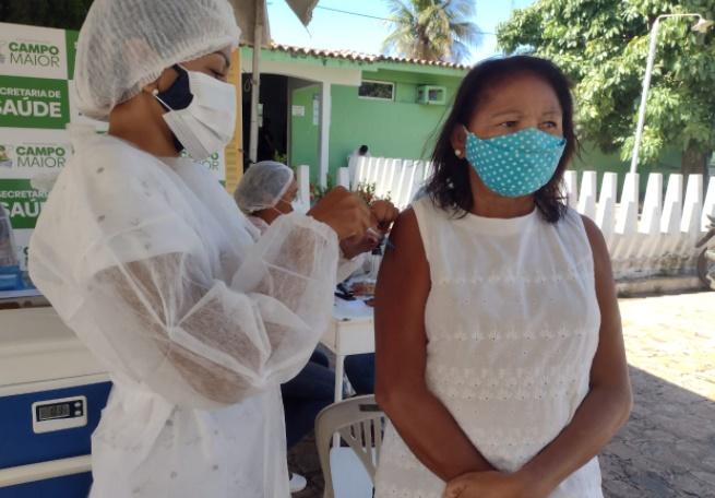 Pessoas de 59 e 58 anos sem comorbidades serão vacinadas em Campo Maior