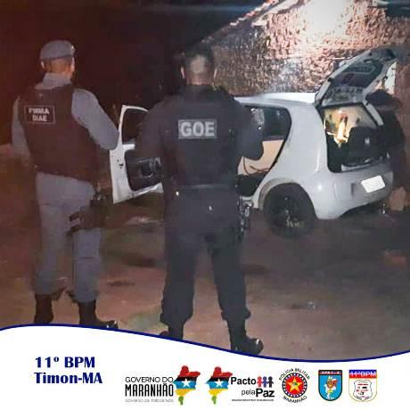 GOE/Timon prende três assaltantes e recupera carro roubado