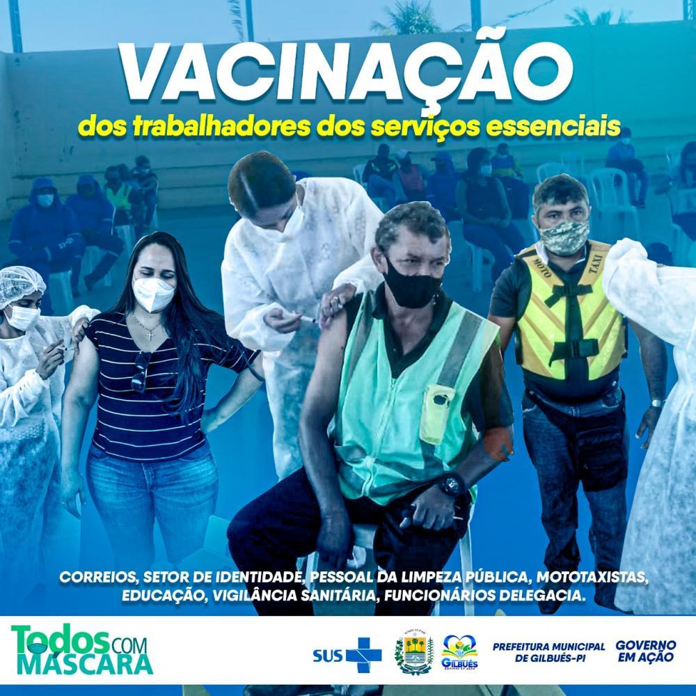 Saúde de Gilbués inicia a vacinação de trabalhadores de serviços essenciais