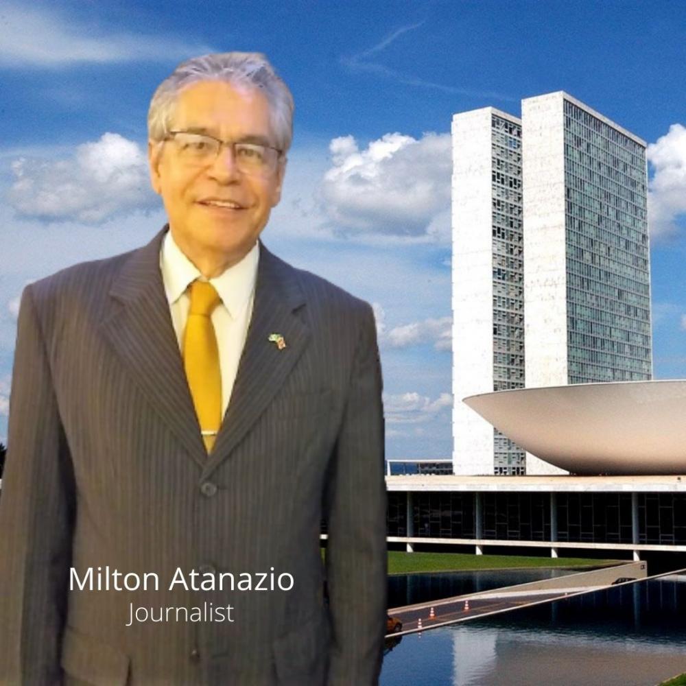 jornalista Milton Atanazio, direto de Brasília