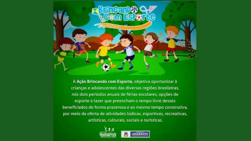 Amarante foi selecionada pelo Programa Brincando com Esporte