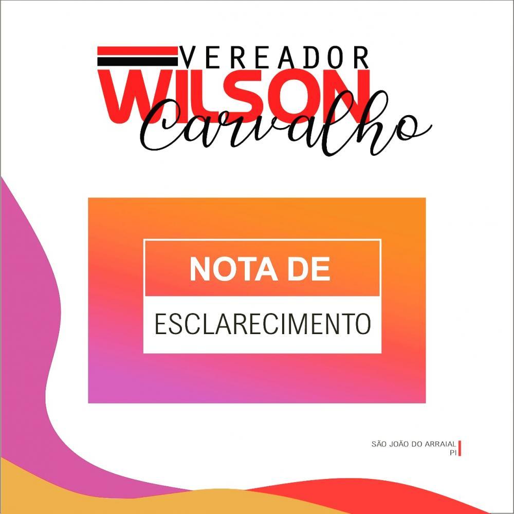 Vereador Wilson Carvalho diz que não votou contra lei orgânica do Município