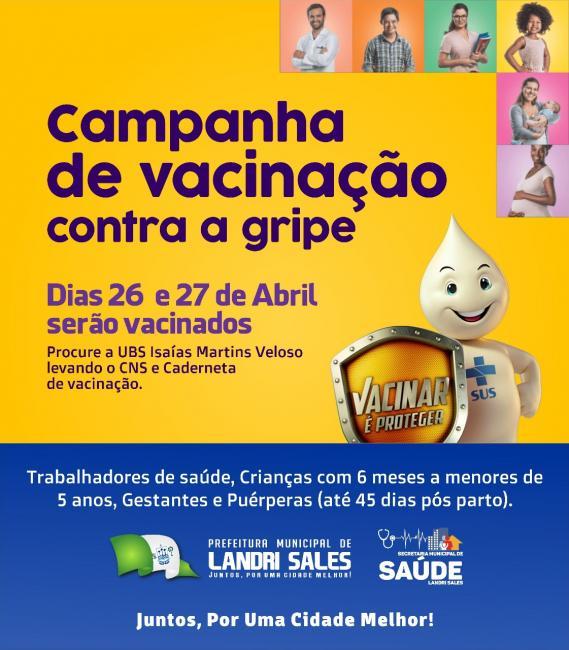 Secretaria de Saúde Landri Sales deu início a campanha 2018 contra a gripe