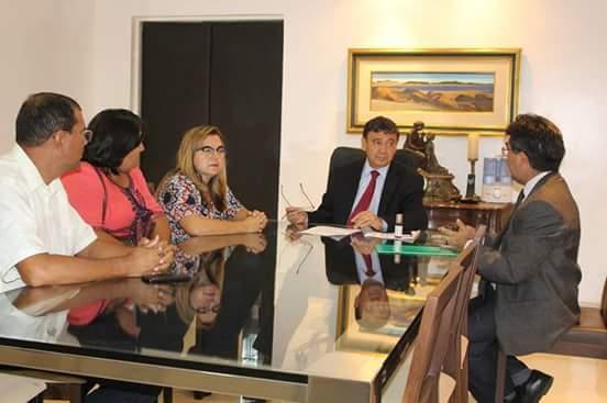 Prefeita Vilma Lima participa de reunião com Governador Wellington Dias e Deputado Limma