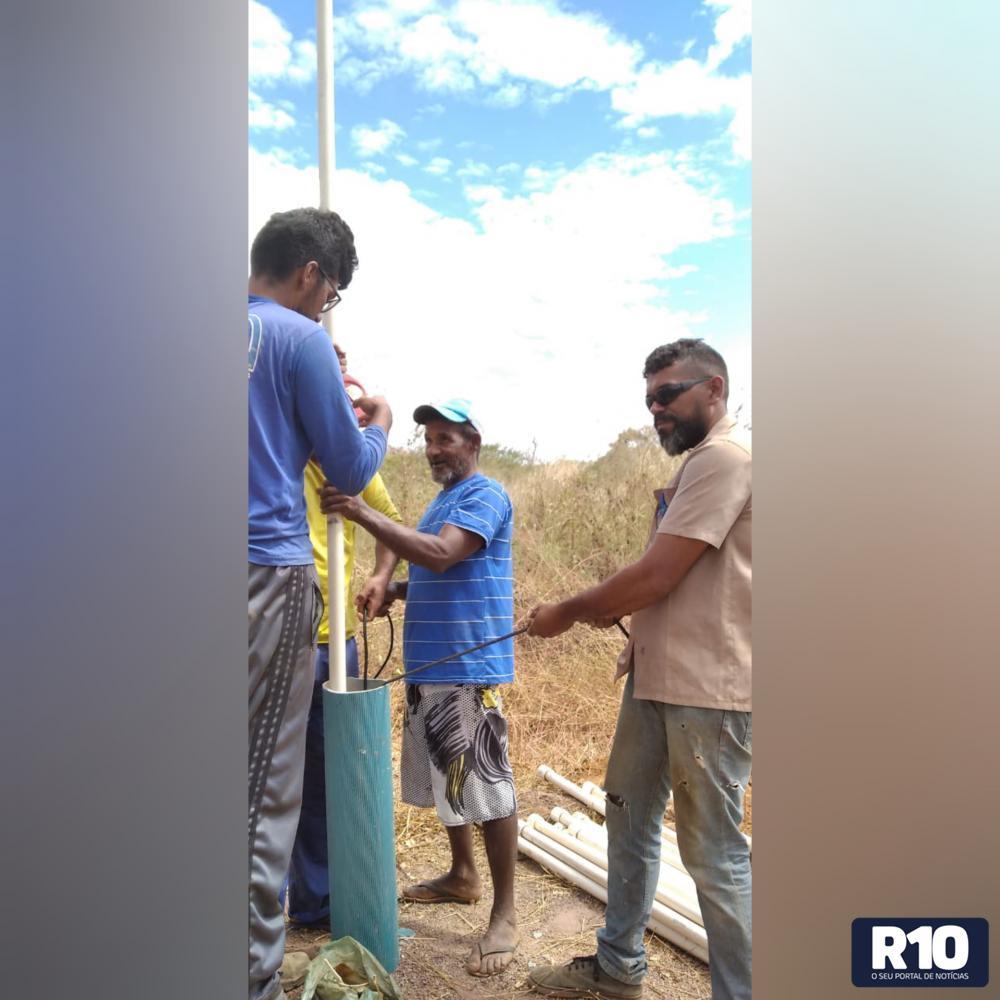 MCT/PI: Hoje mais um poço instalado na localidade Cajueiro