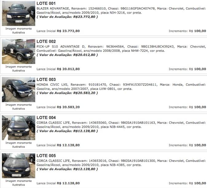 Ministério Público do Piauí promove leilão de veículos; confira