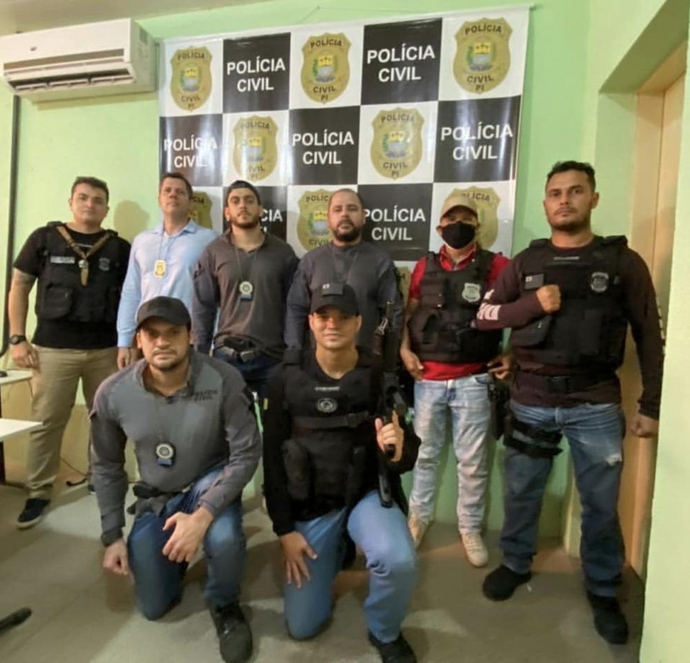 Equipe que realizou a prisão