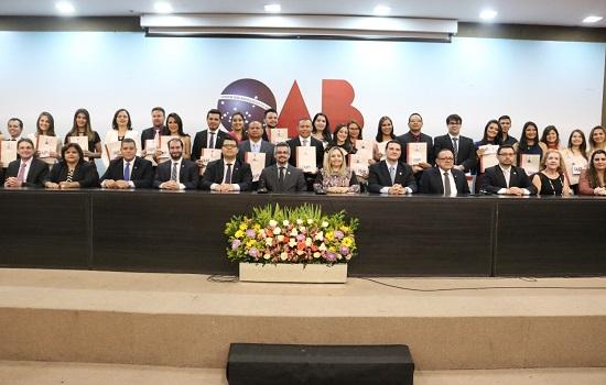 OAB-PI celebra 86 anos em solenidade de compromisso de advogados