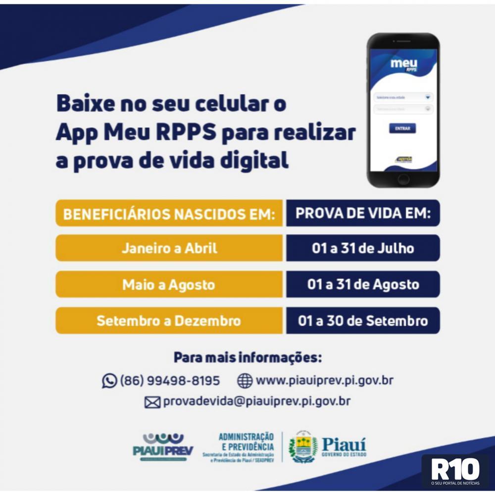 PiauíPrev lança prova de vida digital para aposentados e pensionistas