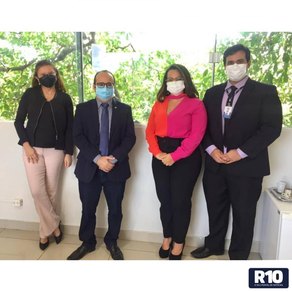 Auditor chefe do TCE-PI, reuniu se com o Defensor Público Geral do Piauí