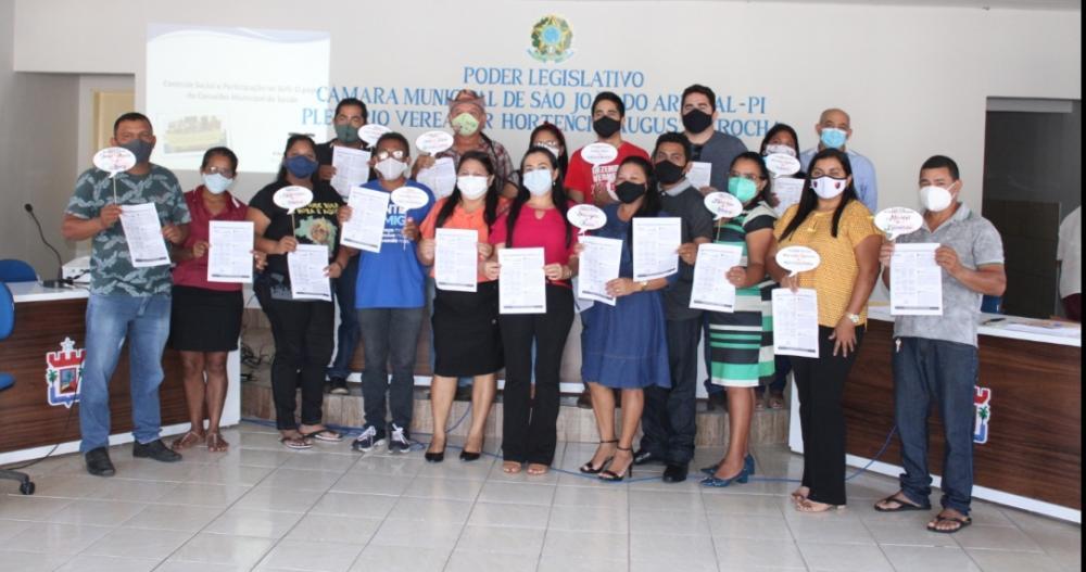 Membros do Conselho Municipal de Saúde tomam posse em São João do Arraial