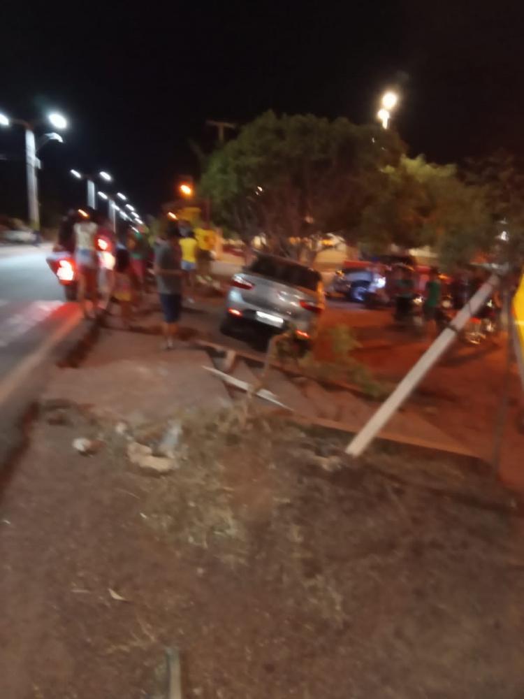 Registrado acidente próximo à igreja de São Francisco em São João dos Patos