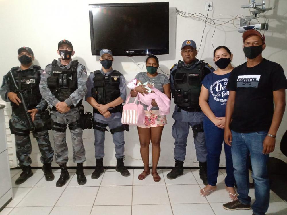 35º BPM localiza bebê de 03 meses de idade vitima de sequestro
