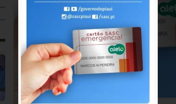 Cartão Sasc emergencial