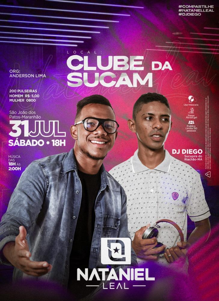 Dia 31 de Julho tem tem música ao vivo com Nataniel Leal e Dj Diego