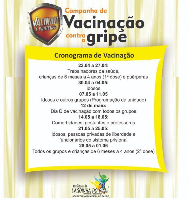 Prefeitura Municipal de Lagoinha do Piaui dá início à Campanha de Vacinação Contra a Gripe