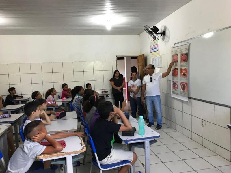 A Secretaria Municipal de Saúde de Lagoinha do Piauí realizou a V Campanha Nacional do Tracoma