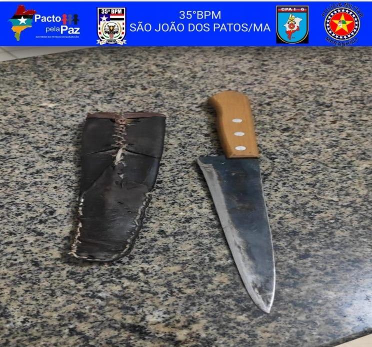 35º BPM prende homem por ameaçar incendiar restaurante em Pastos Bons