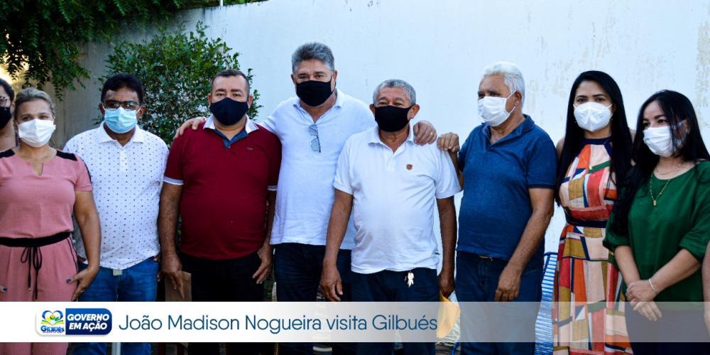 DEPUTADO JOÃO MÁDISON VISITA GILBUÉS