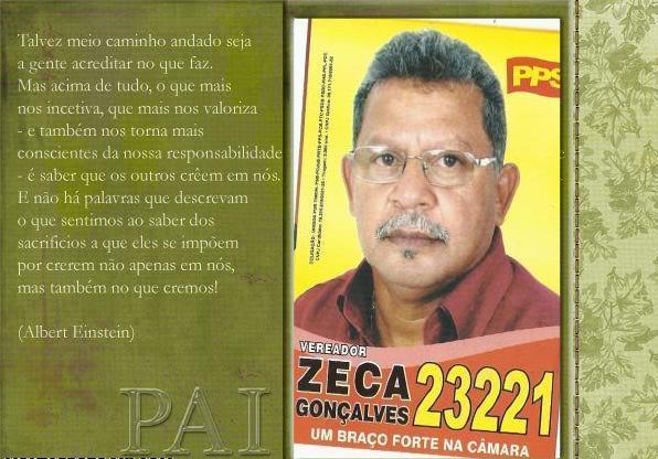 Zeca Gonçalves foi morto com 3 tiros