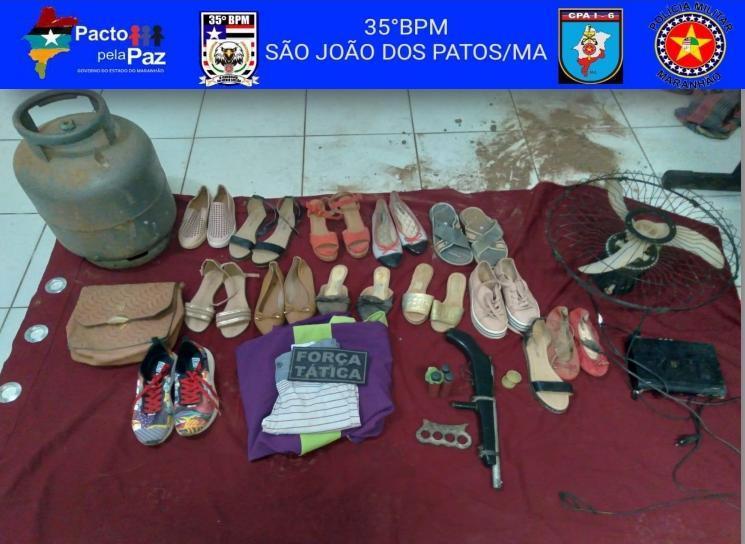 35º BPM recupera diversos produtos oriundos de furtos em São João dos Patos