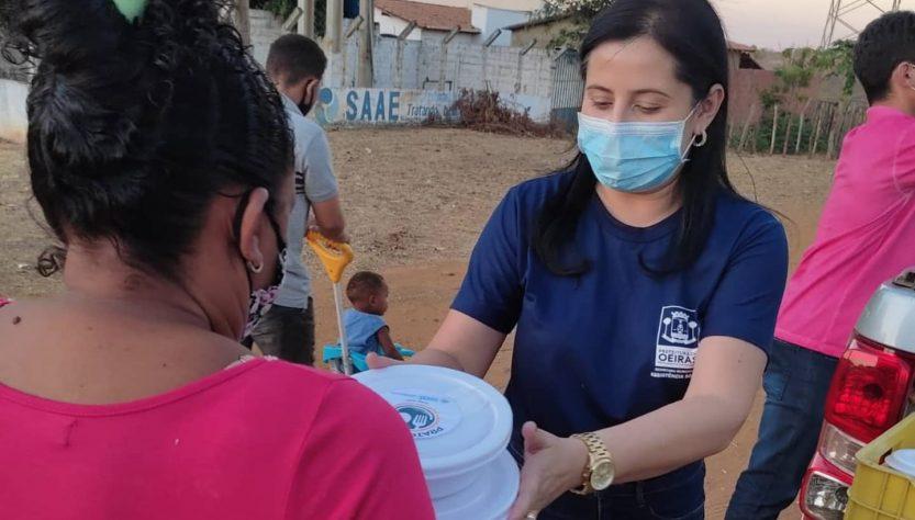 Prefeitura de Oeiras já distribuiu mais de 9 mil refeições à famílias vulneráveis
