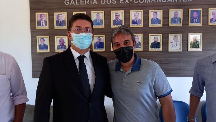 Thiago Carvalho pede reforço da segurança em Timon ao Sec. de Segurança do MA