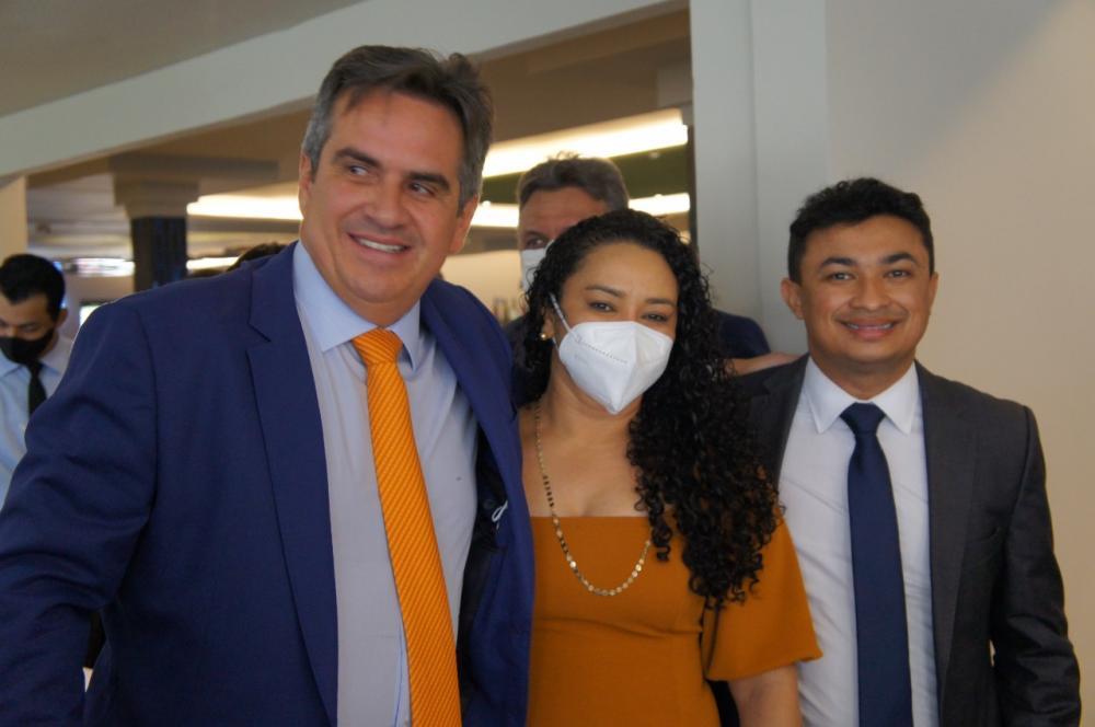 Prefeita Eugênia Nunes - Francisco Ayres, Prefeito Aldemes Barroso - Arraial do Piauí e Ciro Nogueira - Ministro da Casa Civil