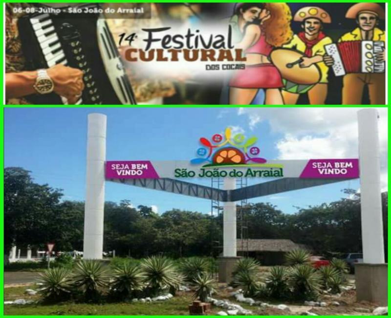 Prefeitura realizará lançamento do XIV Festival Cultural dos Cocais em São João do Arraial
