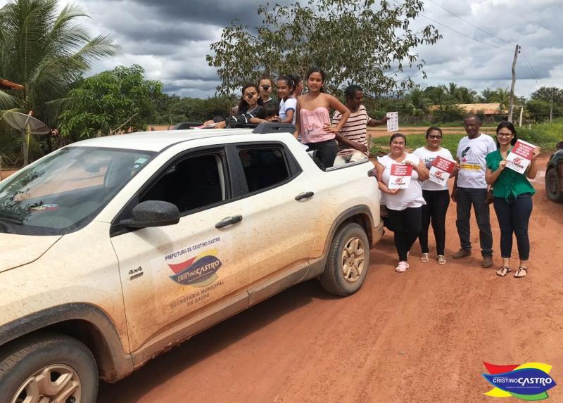Secretaria Municipal de Saúde realiza Campanha de Combate a Dengue na zona rural de Cristino Castro