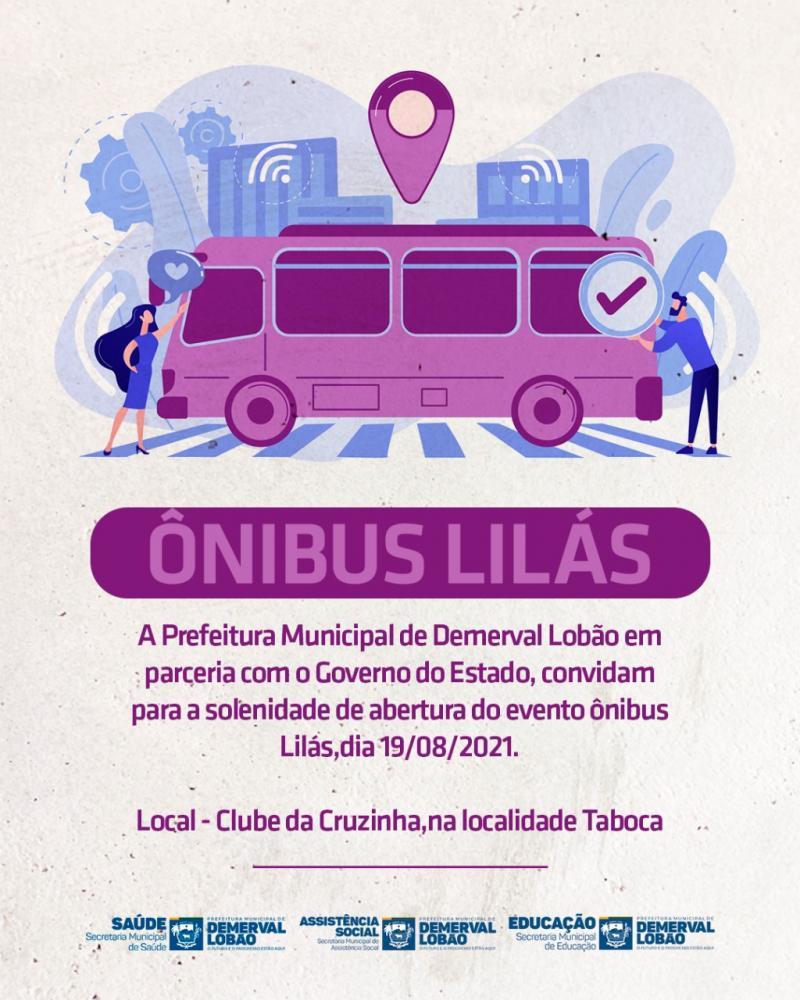 Prefeitura de Demerval Lobão realizará ação Ônibus Lilás na localidade Taboca