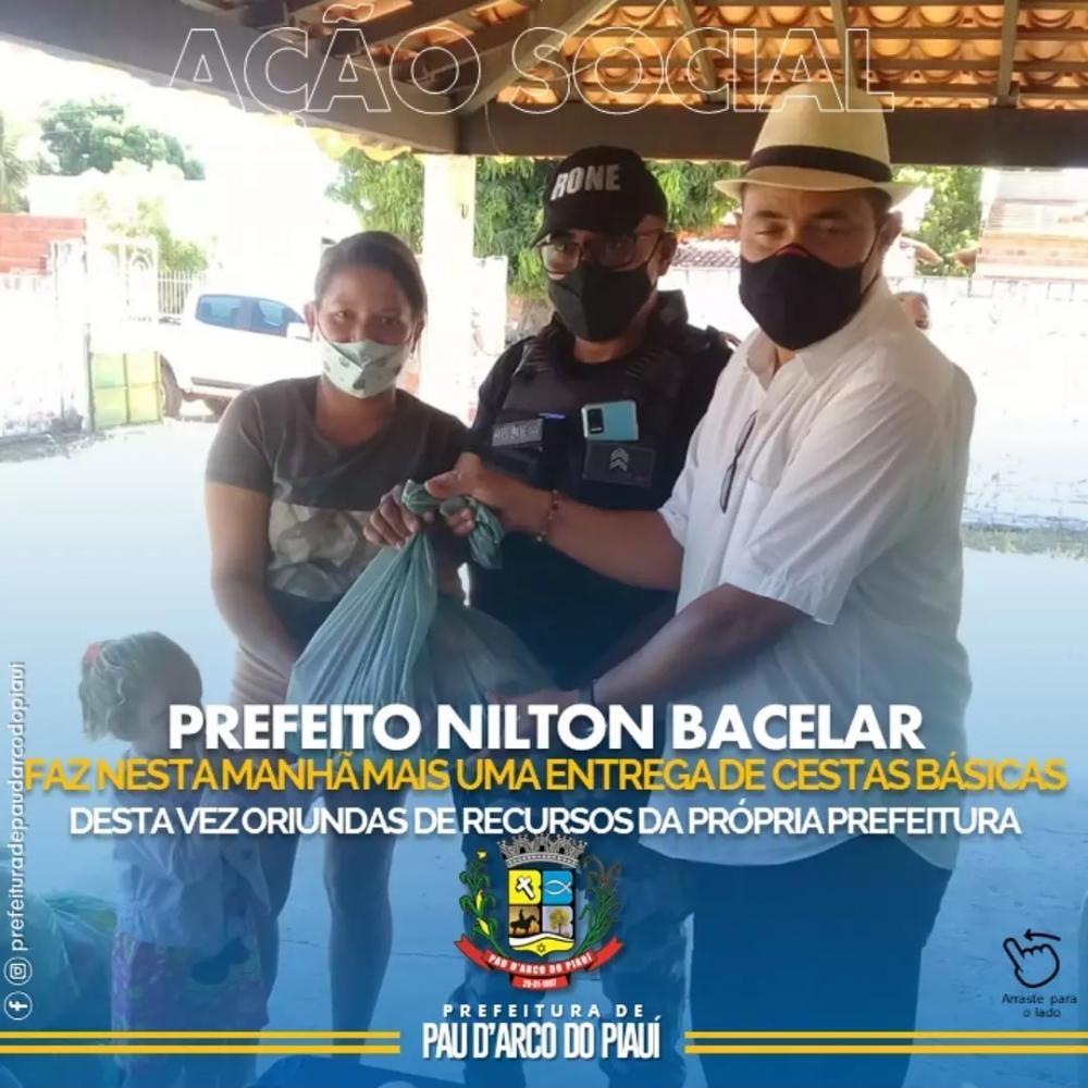 Prefeitura de Pau D'Arco realiza entrega de cestas básicas para a população