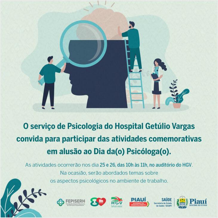 HGV realiza Semana de Psicologia; Confira a programação