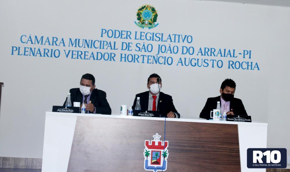 Câmara municipal de São João do Arraial realizou última sessão do mês de agosto