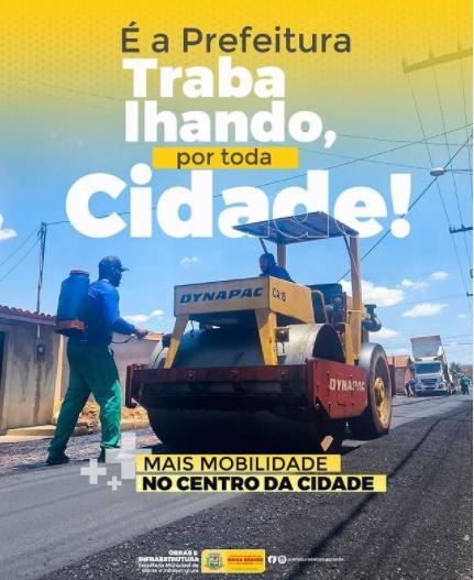 4km de asfalto: prefeitura de Baixa Grande do Ribeiro segue com obras