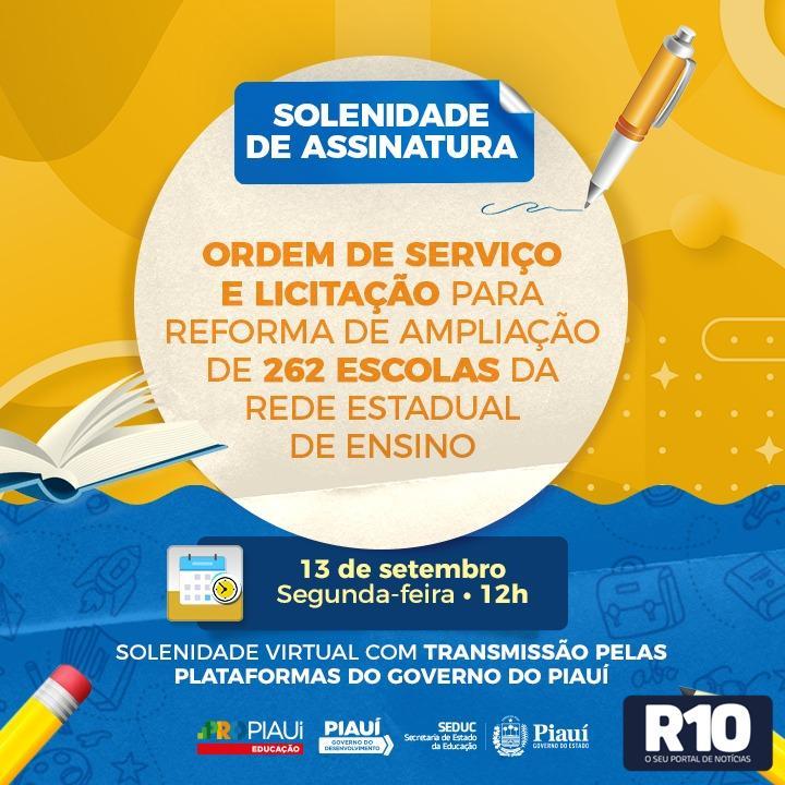 GOV PI: Dá ordem de serviços em mais de R$ 20 milhões para obras na educação