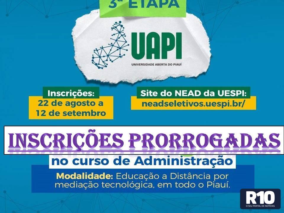 Morro C no Tempo: Inscrições vestibular UAPI prorrogadas ate 18/09 aproveitem