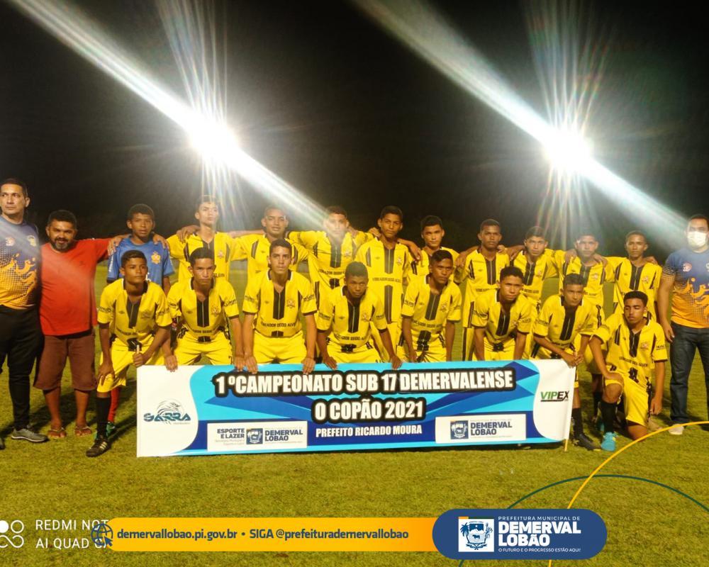 Secretaria de Esporte de Demerval Lobão realiza 1º Campeonato de Futebol Sub 17