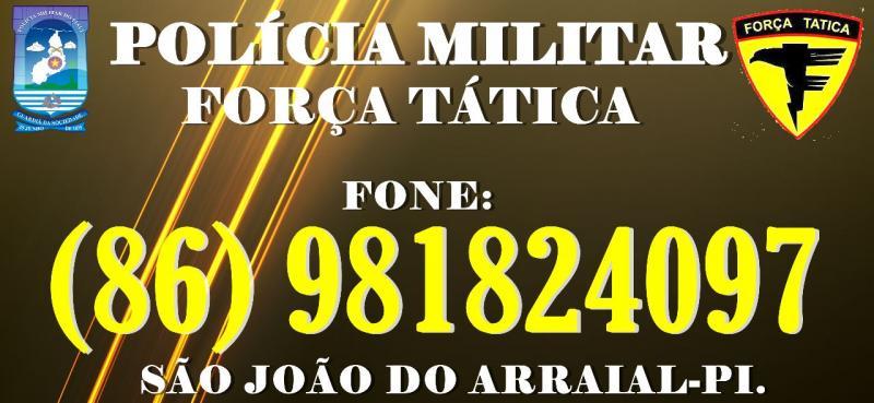 Polícia Militar de São João do Arraial divulga número de telefone móvel para realização de denúncias
